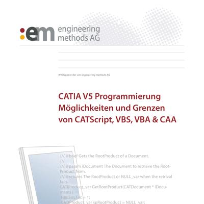 Whitepaper CATIA V5 Programmierung
