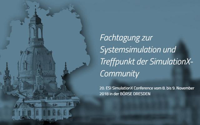 Keyvisual Fachtagung zur Systemsimulation und Treffpunkt der SimulationX-Community