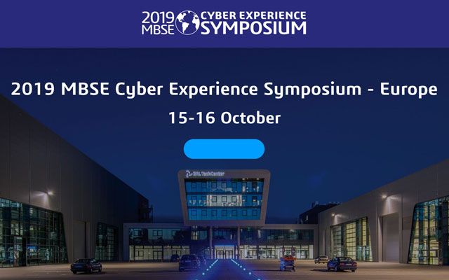 Keyvisual MBSE Cyber Experience Symposium 2019